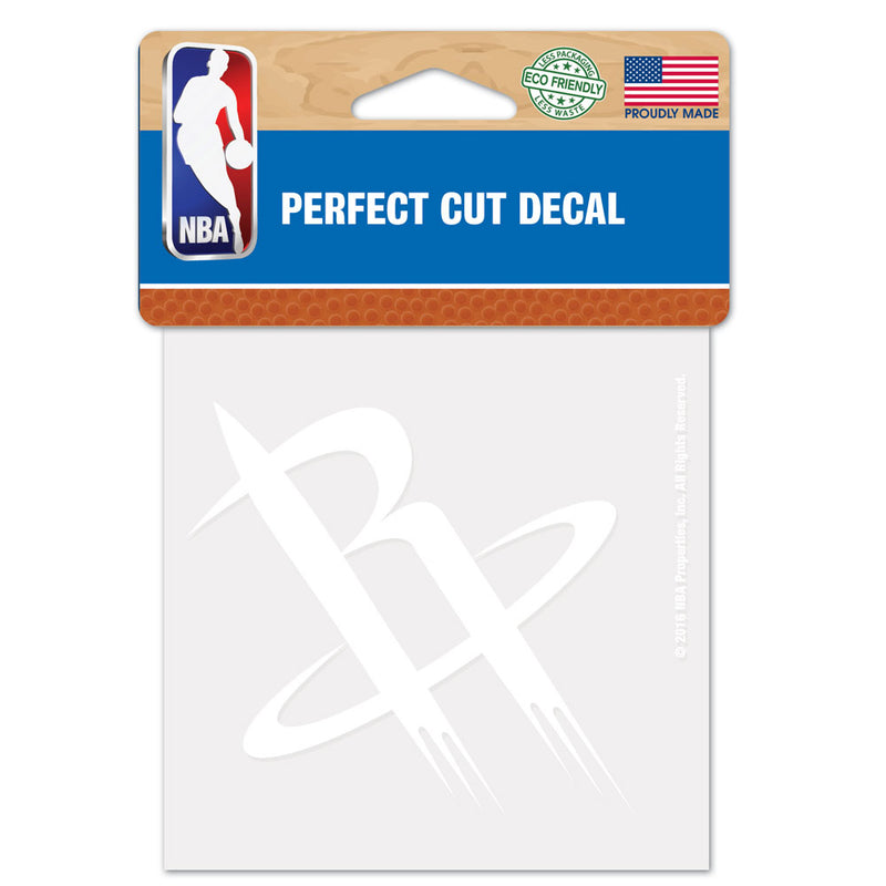 Houston Rockets Decal 4x4 Perfect Cut White - Special Order