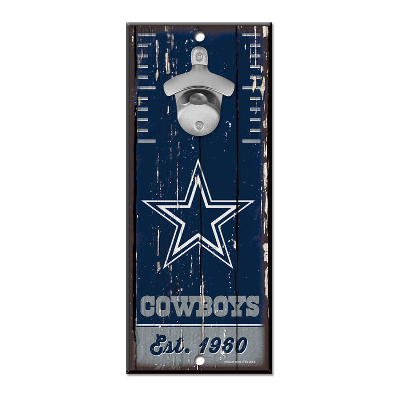Dallas Cowboys Sign Wood 5x11 Bottle Opener