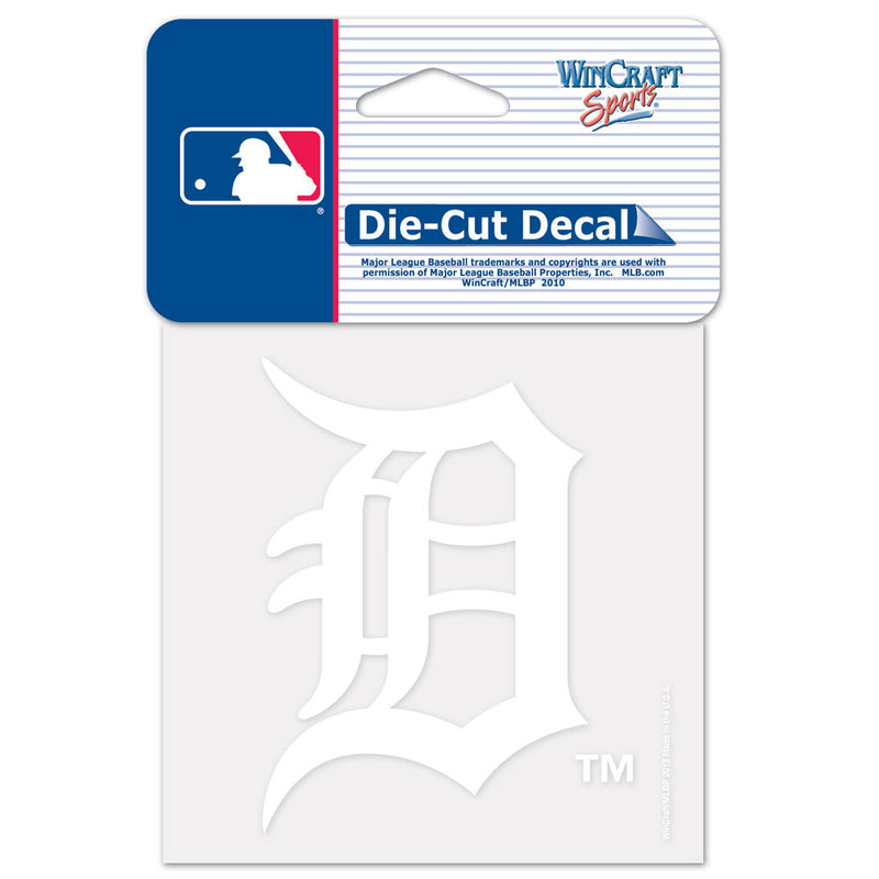 Detroit Tigers Decal 4x4 Perfect Cut White