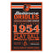 Baltimore Orioles Sign 11x17 Wood Established Design