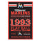 Miami Marlins Sign 11x17 Wood Established Design