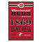 Cincinnati Reds Sign 11x17 Wood Established Design