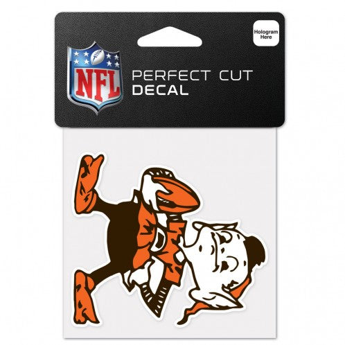 Cleveland Browns Decal 4x4 Perfect Cut Color