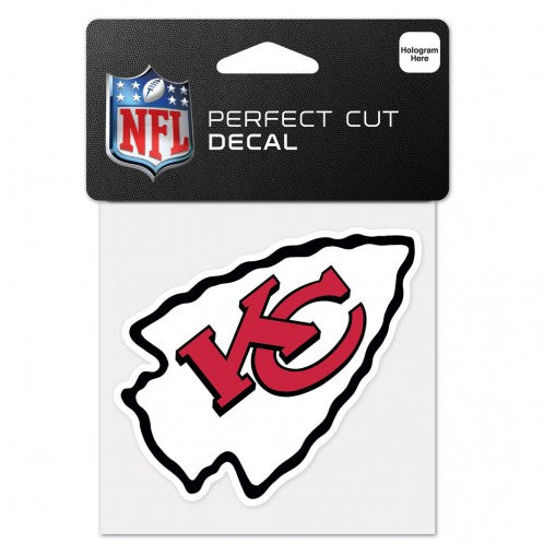 Kansas City Chiefs Decal 4x4 Perfect Cut Color