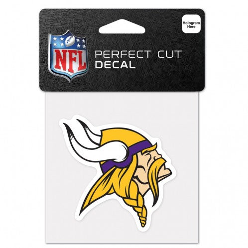 Minnesota Vikings Decal 4x4 Perfect Cut Color