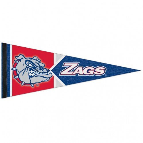 Gonzaga Bulldogs Pennant 12x30 Premium Style - Special Order