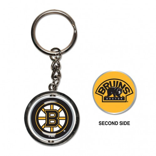 Boston Bruins Key Ring Spinner Style