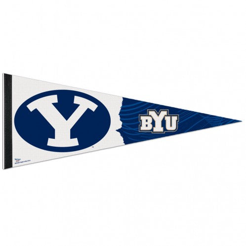 BYU Cougars Pennant 12x30 Premium Style - Special Order