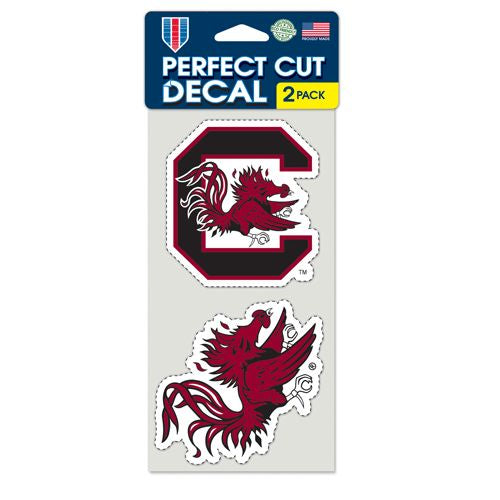 South Carolina Gamecocks Set of 2 Die Cut Decals
