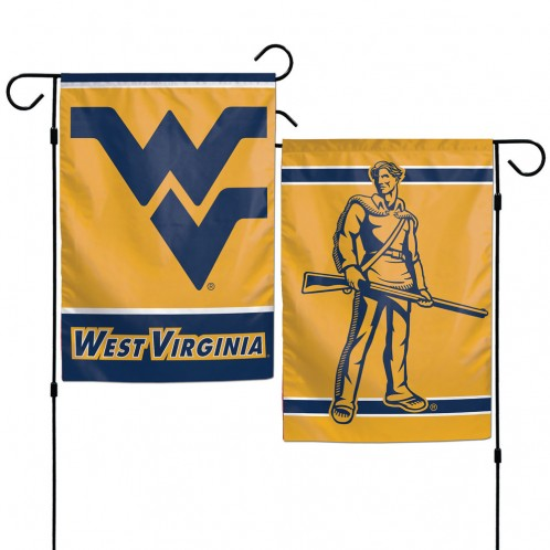 West Virginia Mountaineers Flag 12x18 Garden Style 2 Sided