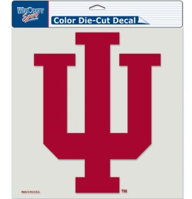 Indiana Hoosiers Decal 8x8 Die Cut Color