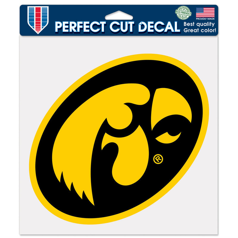 Iowa Hawkeyes Decal 8x8 Die Cut Color