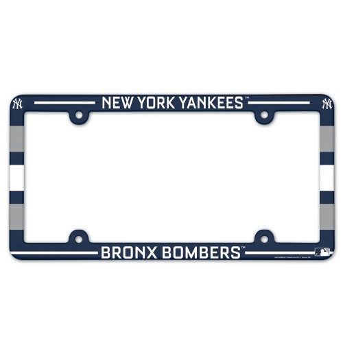 New York Yankees License Plate Frame Plastic Full Color Style