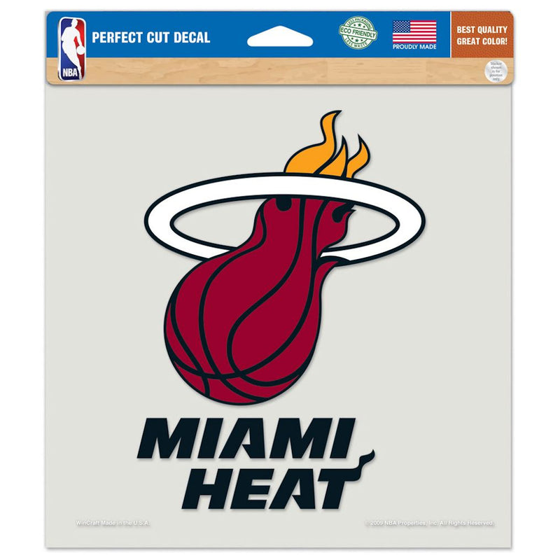 Miami Heat Decal 8x8 Die Cut Color