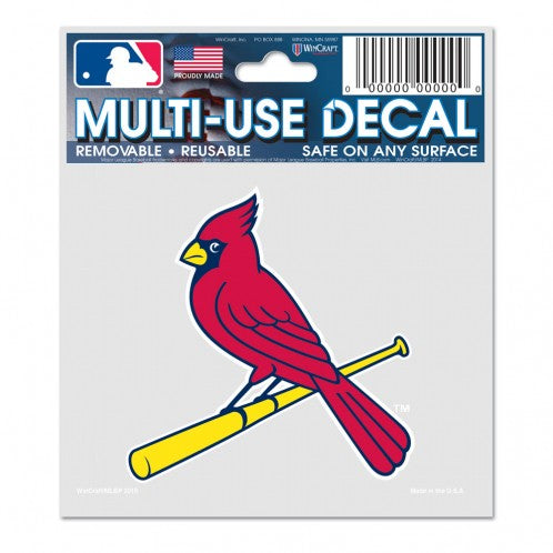 St. Louis Cardinals Decal 3x4 Multi Use