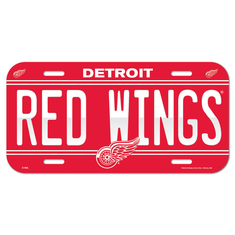 Detroit Red Wings License Plate - Special Order