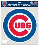 Chicago Cubs Decal 8x8 Die Cut Color Round