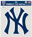 New York Yankees Decal 8x8 Die Cut Color NY