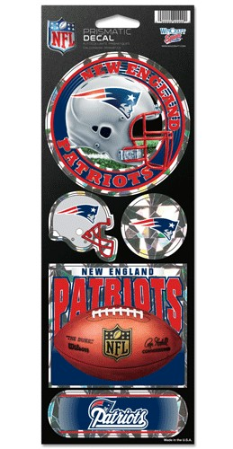 New England Patriots Stickers Prismatic
