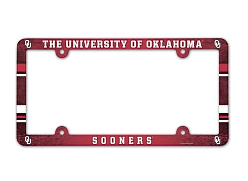 Oklahoma Sooners License Plate Frame - Full Color
