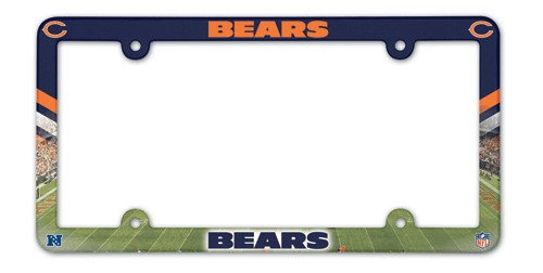 Chicago Bears License Plate Frame Plastic Full Color Style