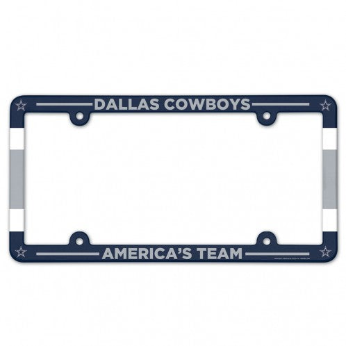 Dallas Cowboys License Plate Frame Plastic Full Color Style