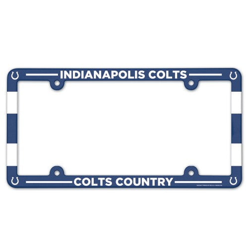 Indianapolis Colts License Plate Frame Plastic Full Color Style