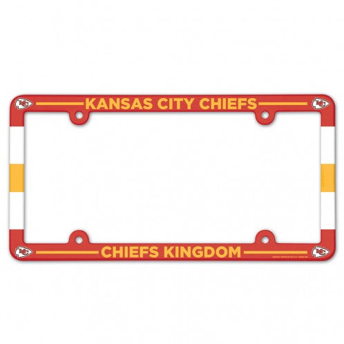 Kansas City Chiefs License Plate Frame Plastic Full Color Style