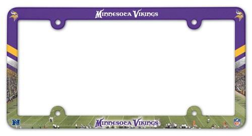 Minnesota Vikings License Plate Frame Plastic Full Color Style