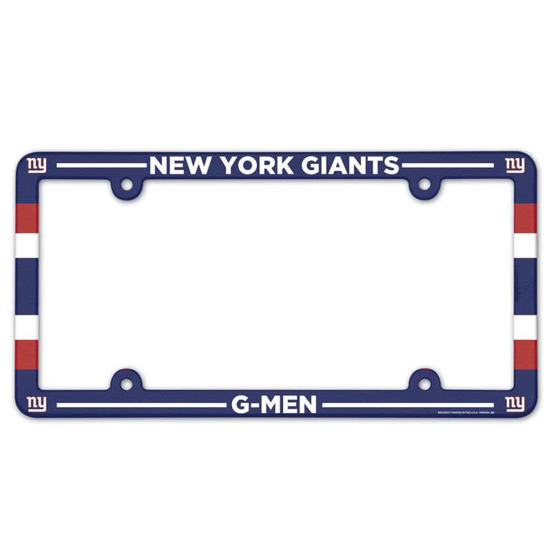 New York Giants License Plate Frame Plastic Full Color Style