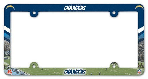Los Angeles Chargers License Plate Frame Full Color Style San Diego Throwback