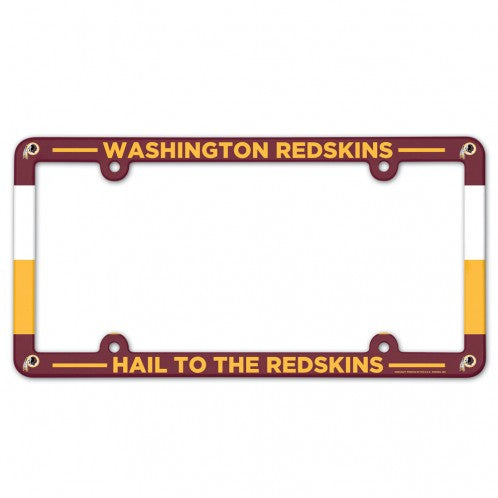 Washington Redskins Full Color License Plate Frame
