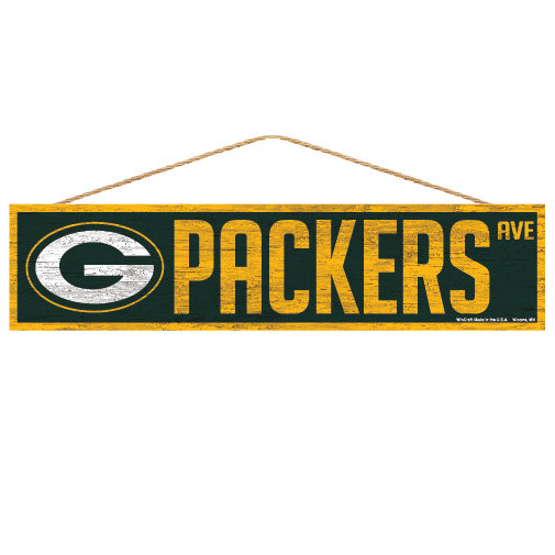 Green Bay Packers Sign 4x17 Wood Avenue Design