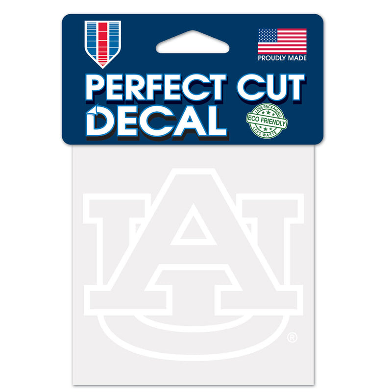 Auburn Tigers Decal 4x4 Perfect Cut White