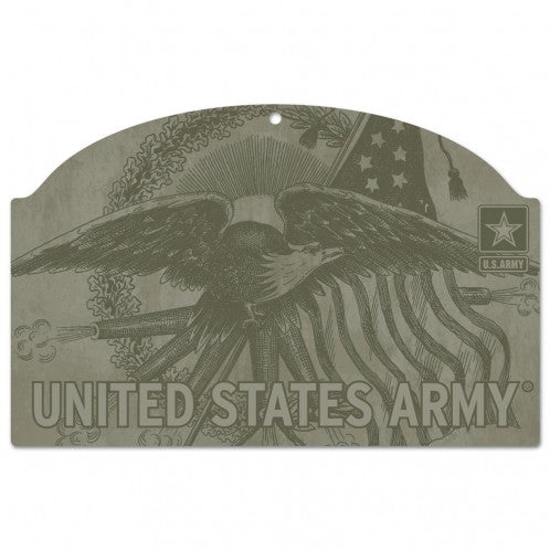 US Army Eagle 11x17 Wood Sign - Special Order