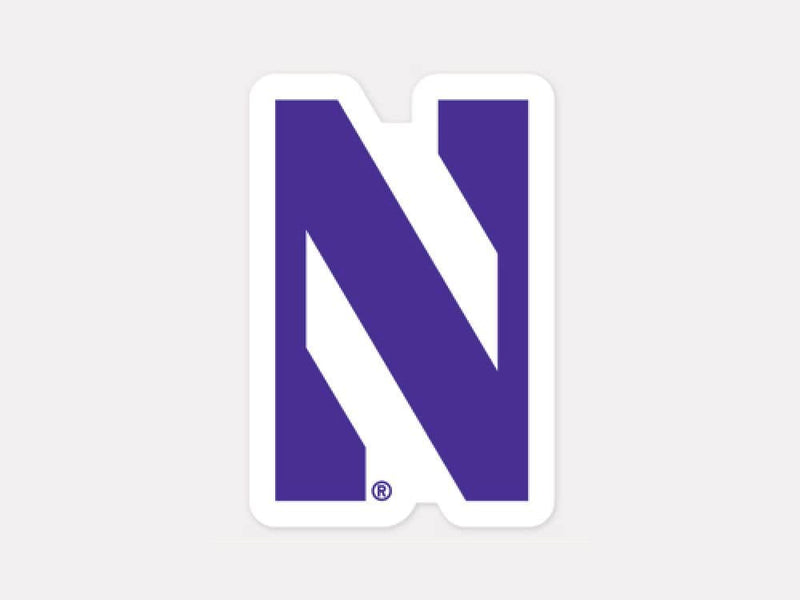 Northwestern Wildcats Decal 4x4 Perfect Cut Color