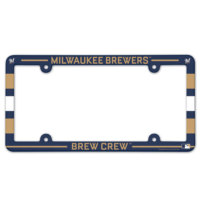 Milwaukee Brewers License Plate Frame Plastic Full Color Style