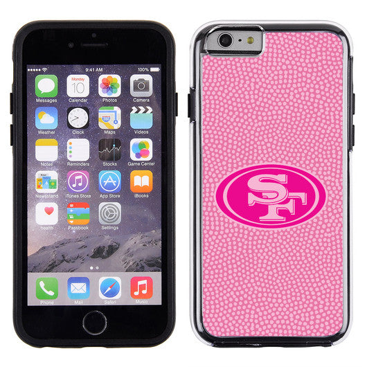 San Francisco 49ers Pink NFL Football Pebble Grain Feel IPhone 6 Case -