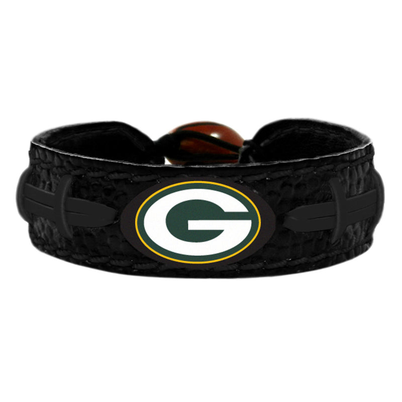 Green Bay Packers Bracelet Team Color Tonal Black Football