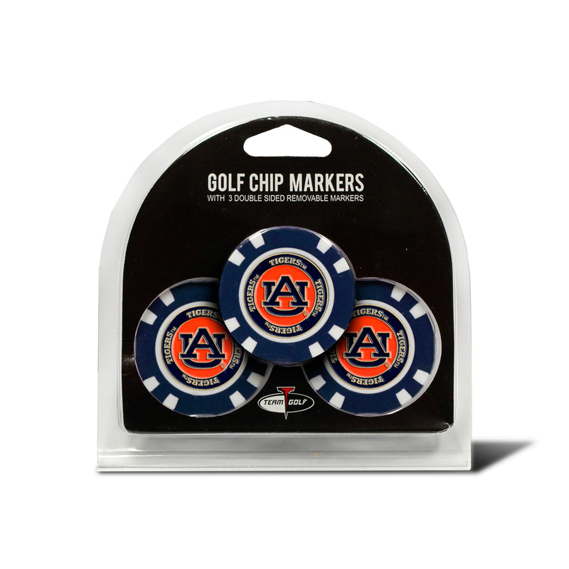 Auburn Tigers Golf Chip with Marker 3 Pack