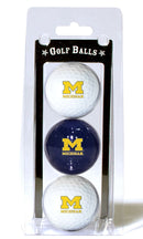 Michigan Wolverines 3 Pack of Golf Balls
