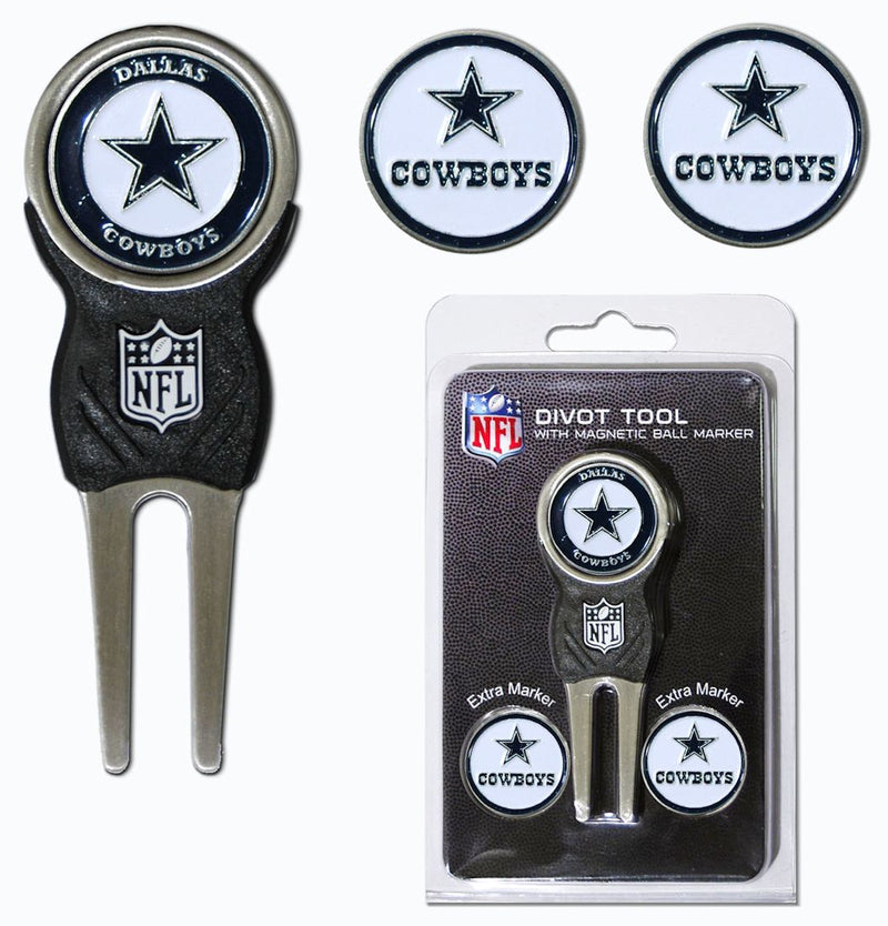 Dallas Cowboys Golf Divot Tool with 3 Markers