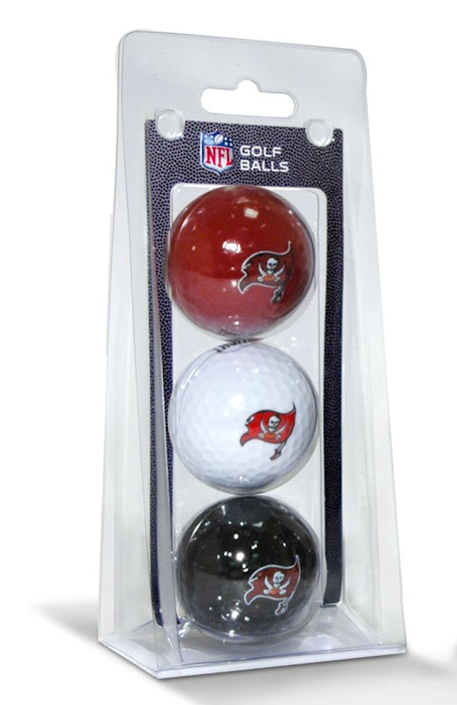Tampa Bay Buccaneers 3 Pack of Golf Balls