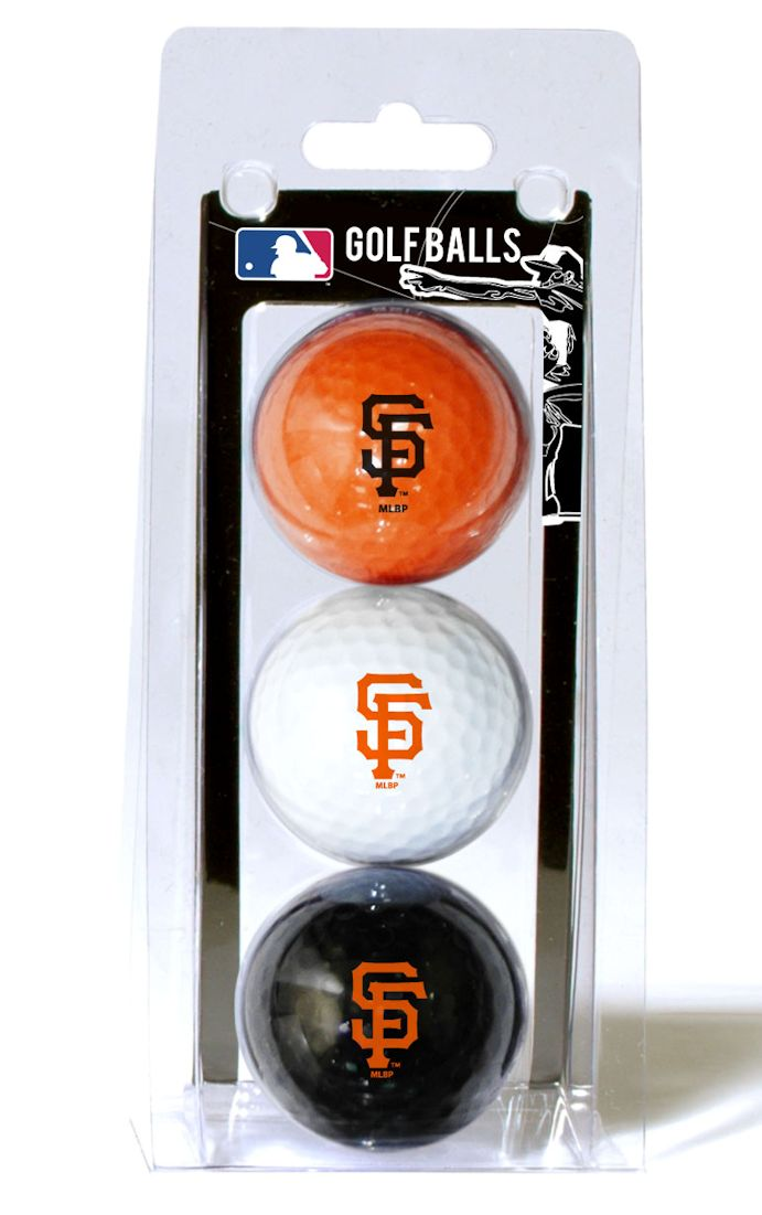 San Francisco Giants 3 Pack of Golf Balls