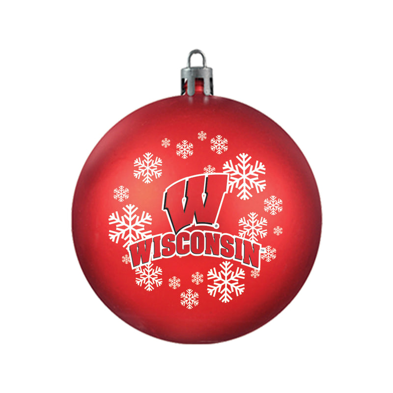 Wisconsin Badgers Ornament Shatterproof Ball