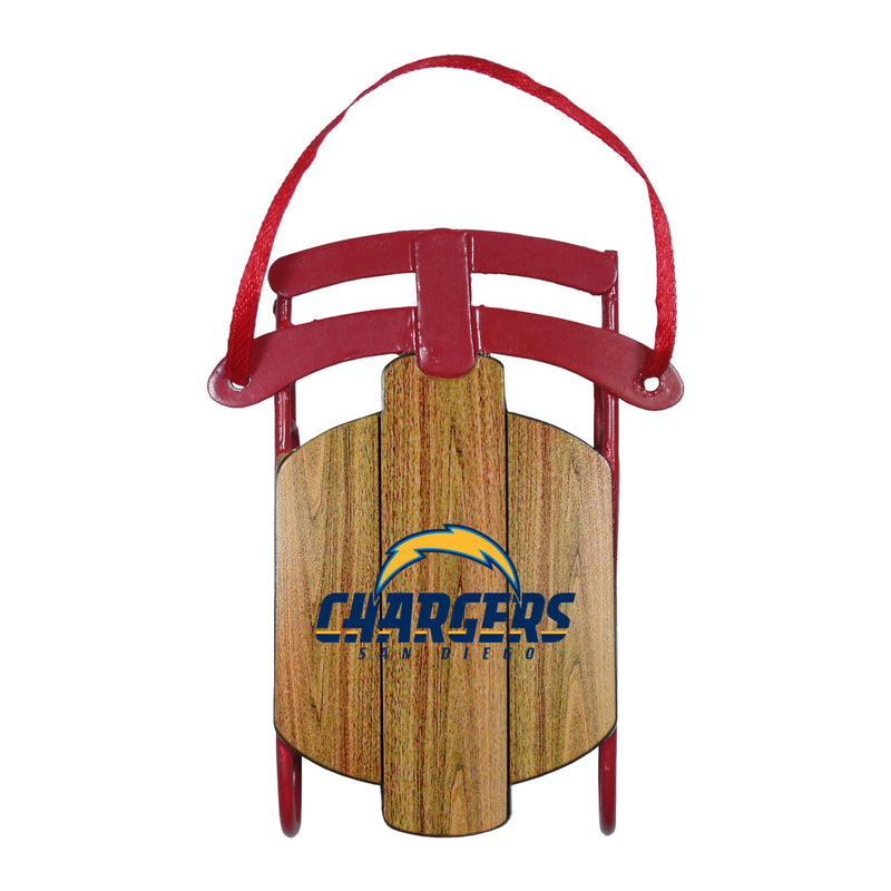 Los Angeles Chargers Ornament Metal Sled San Diego Throwback