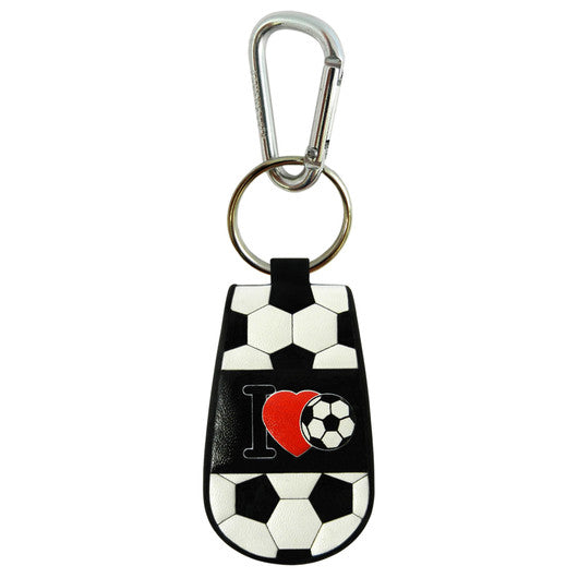 I Love Soccer Keychain Classic Soccer