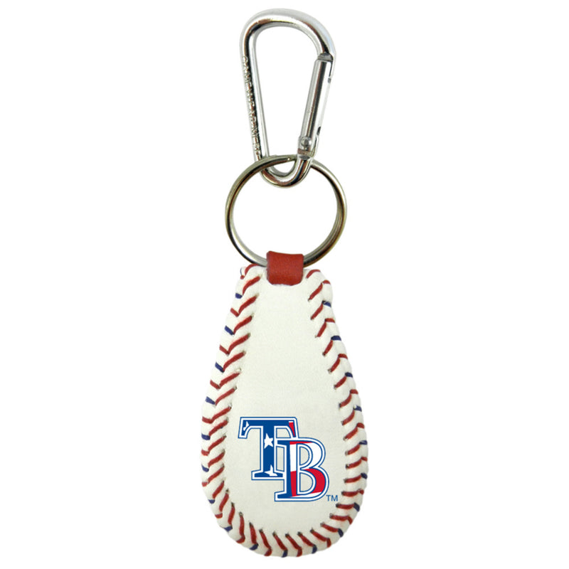Tampa Bay Rays Keychain Baseball Stars and Stripes