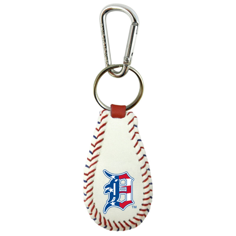 Detroit Tigers Keychain Baseball Stars and Stripes