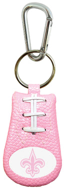 New Orleans Saints Keychain Pink Football
